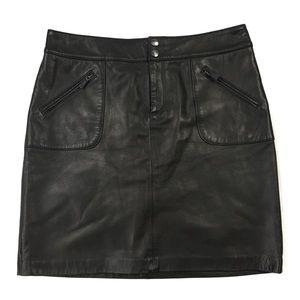 LAUREN Ralph Lauren Soft Leather Skirt
